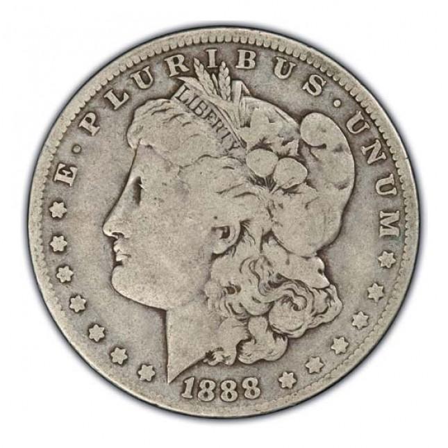 1878-1904 Morgan Silver Dollar Coin VG Obverse