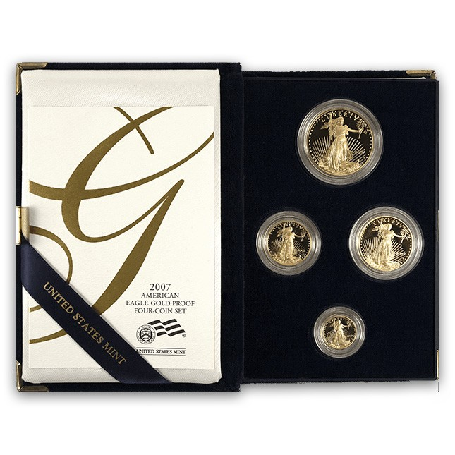 4-Coin American Proof Gold Eagle Set (Random Year, w/OGP)