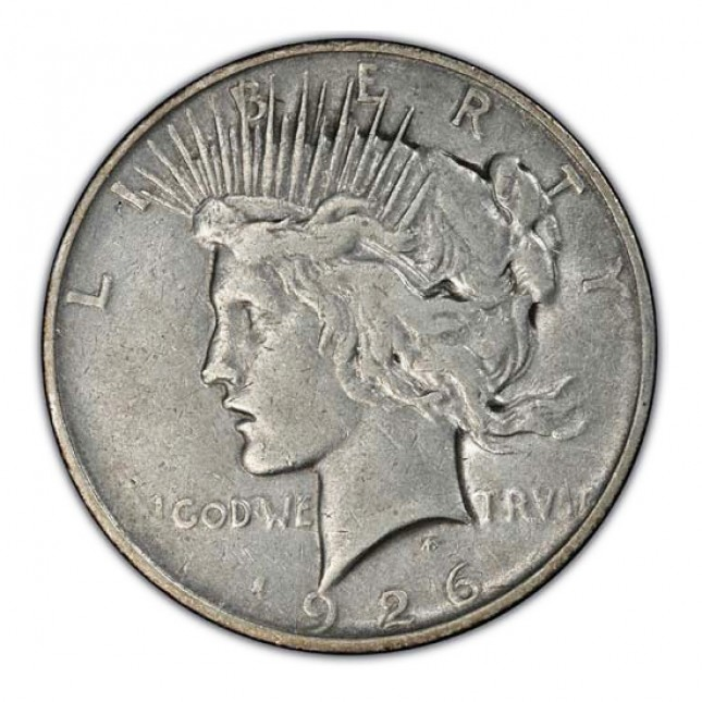 1922-1935 Peace Silver Dollar Cull Obverse