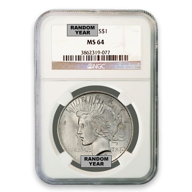 Silver Peace Dollar NGC MS64 (Random)