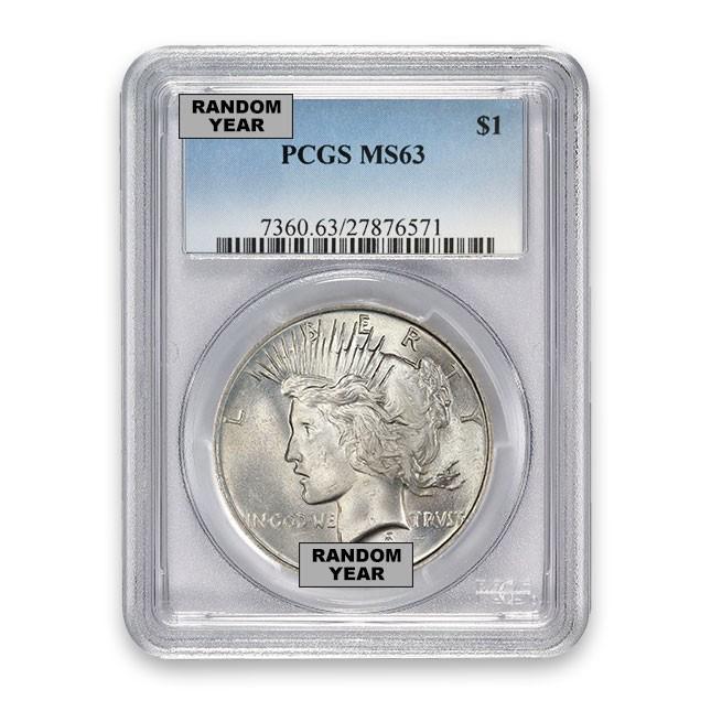 Silver Peace Dollar PCGS MS63 (Random)