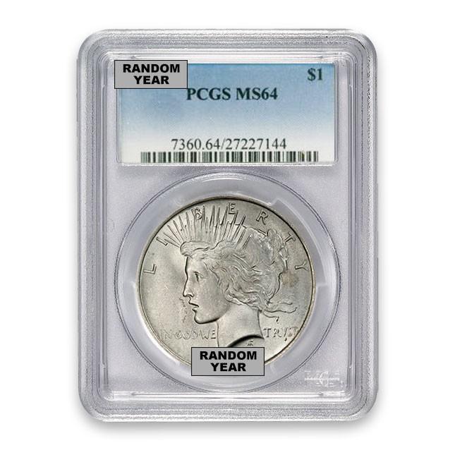 1922-1925 Random Date Silver Peace Dollar PCGS MS64
