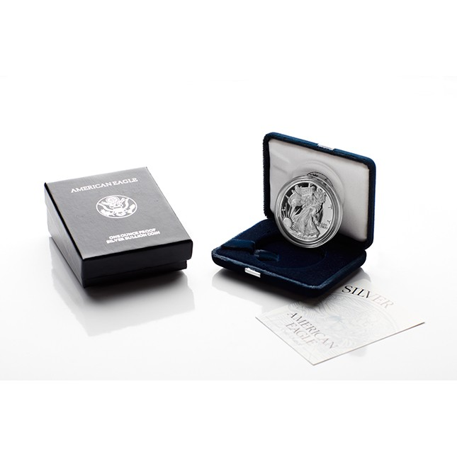 2006-W American Proof Silver Eagle Coin (In OGP)