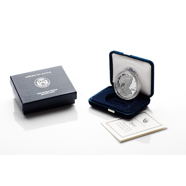 2011-W American Proof Silver Eagle Coin (In OGP)