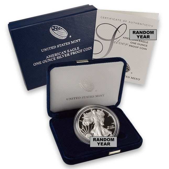 Random Date American Proof Silver Eagle (In OGP)