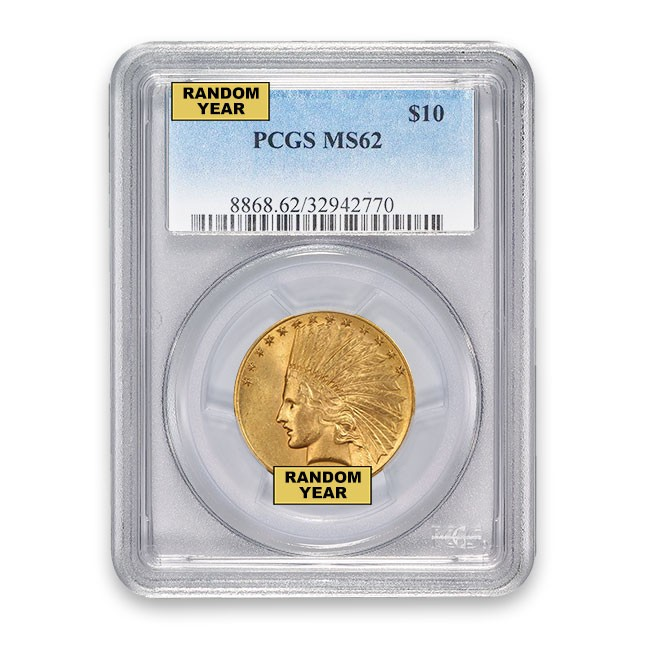 $10 Indian Gold Eagle PCGS MS62 (Random)