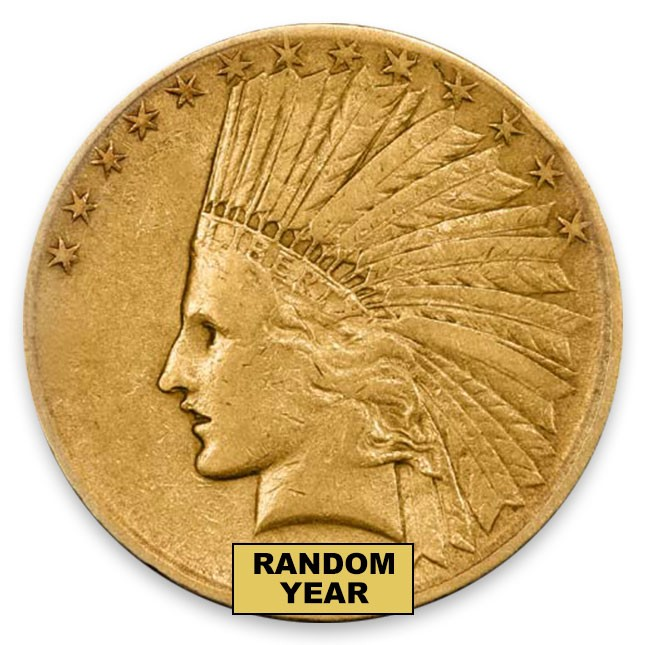 $10 Indian Gold Eagle (LP) Random