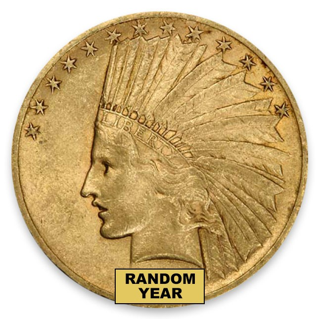 $10 Indian Gold Eagle XF Obverse