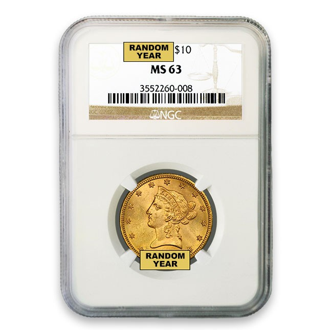 $10 Liberty Gold Eagle NGC MS63 Obverse