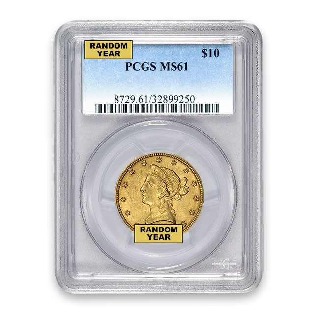 $10 Liberty Gold Eagle PCGS MS61 (Random)
