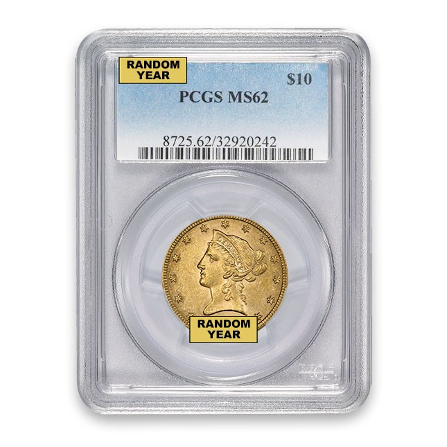 $10 Liberty Gold Eagle PCGS MS62 Obverse