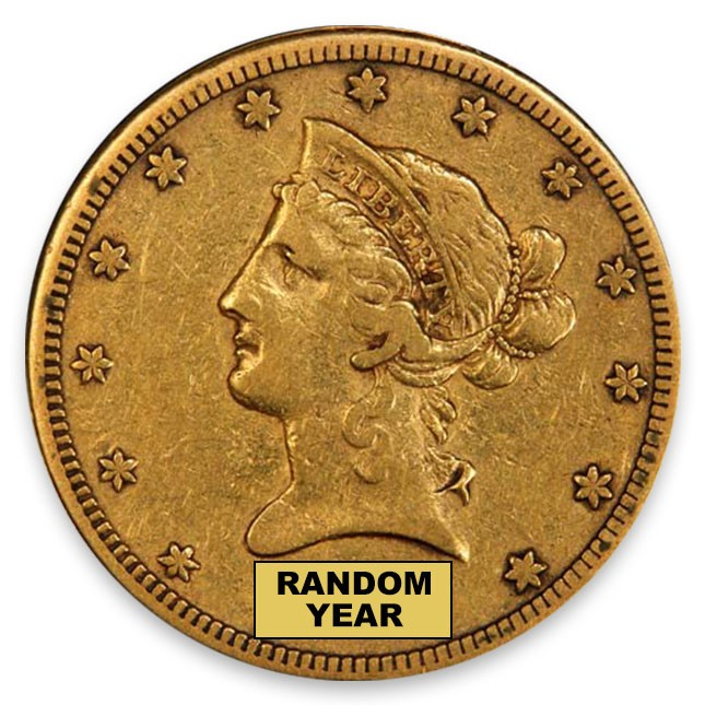 $10 Liberty Gold Eagle VF Obverse