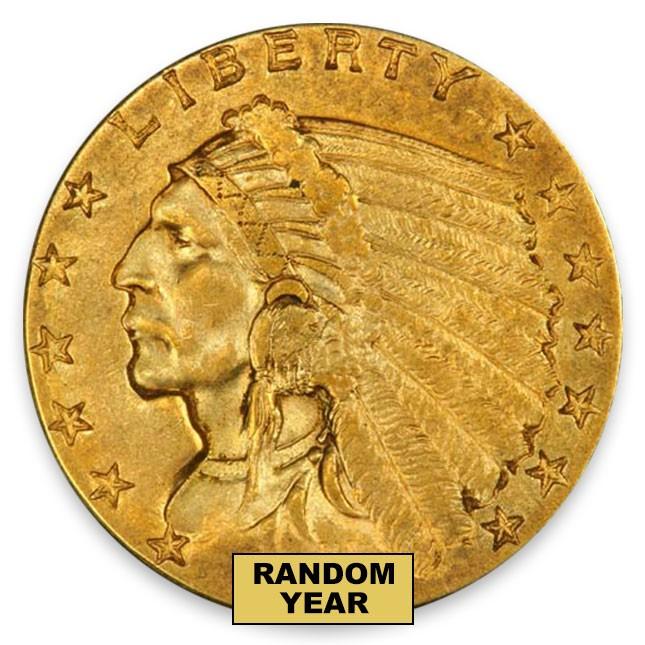 $2.50 Indian Quarter Eagle About Uncirculated (AU) Random