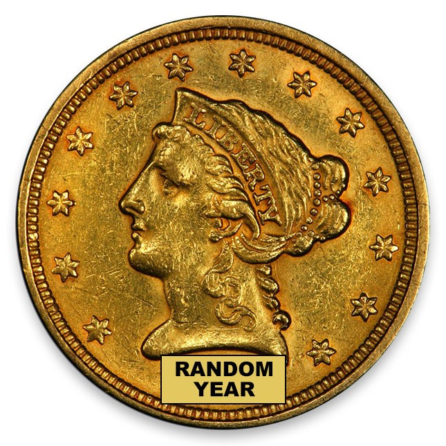 $2.5 Liberty Quarter Eagle About Uncirculated (AU) Obverse