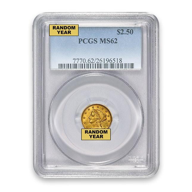 $2.50 Liberty Quarter Eagle PCGS MS62