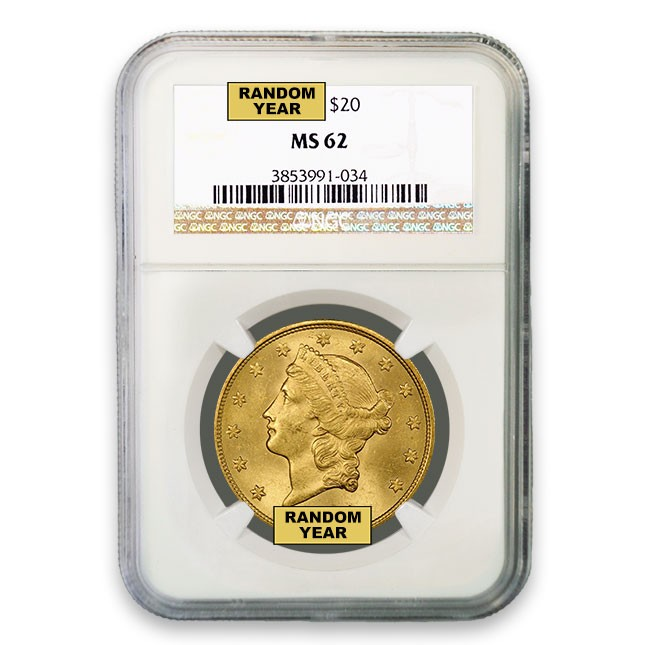 $20 Liberty Gold Double Eagle NGC MS62 Obverse