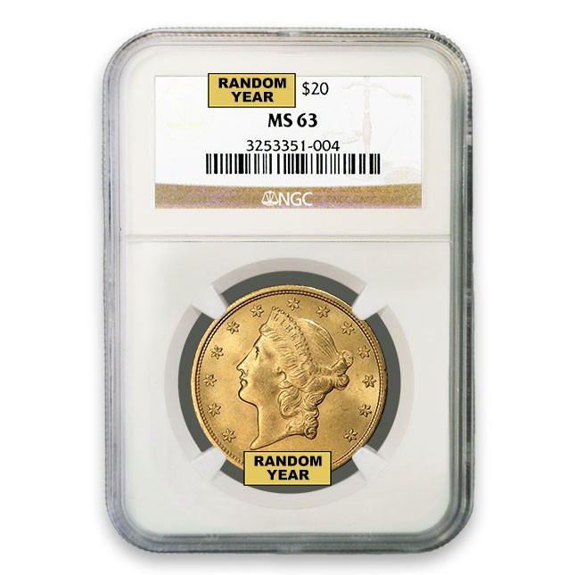 $20 Liberty Gold Double Eagle NGC MS63 Obverse