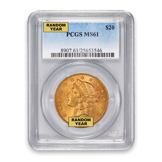 $20 Liberty Gold Double Eagle PCGS MS61