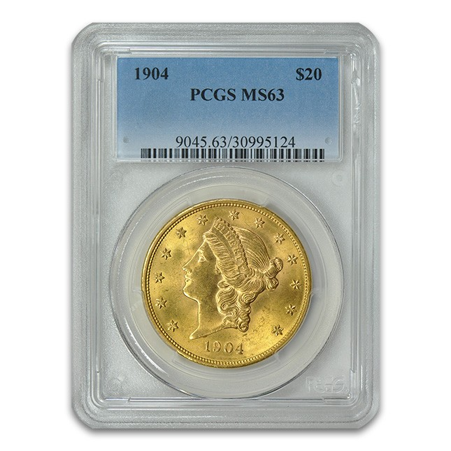 $20 Liberty Double Eagle PCGS MS63 Obverse