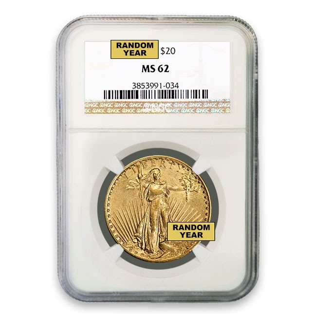 $20 Saint-Gaudens Double Eagle NGC MS62