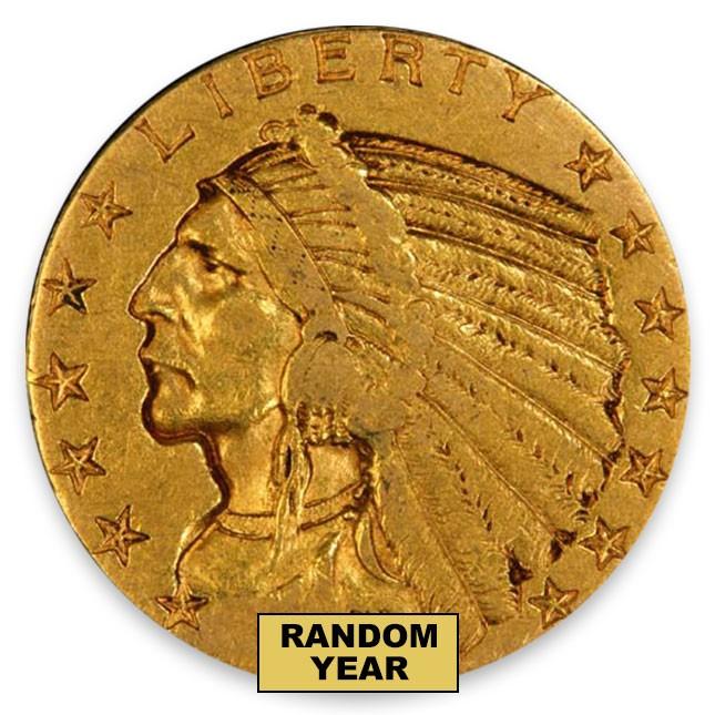 $5 Indian Gold Half Eagle (LP) Random