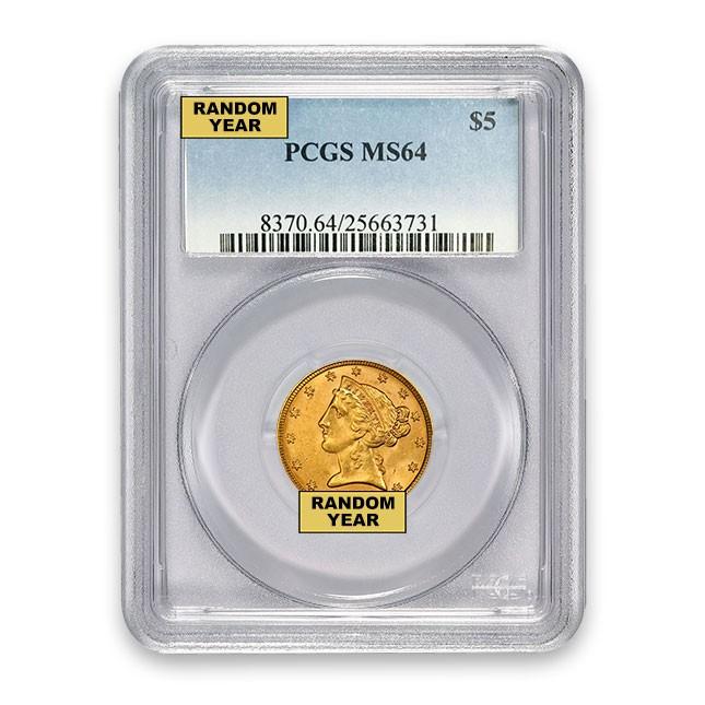 $5 Liberty Gold Half Eagle PCGS MS64 Obverse