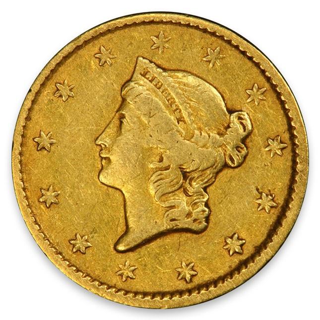 1849-1854 Random Date Type 1 Gold Dollar Extra Fine (XF) Obverse