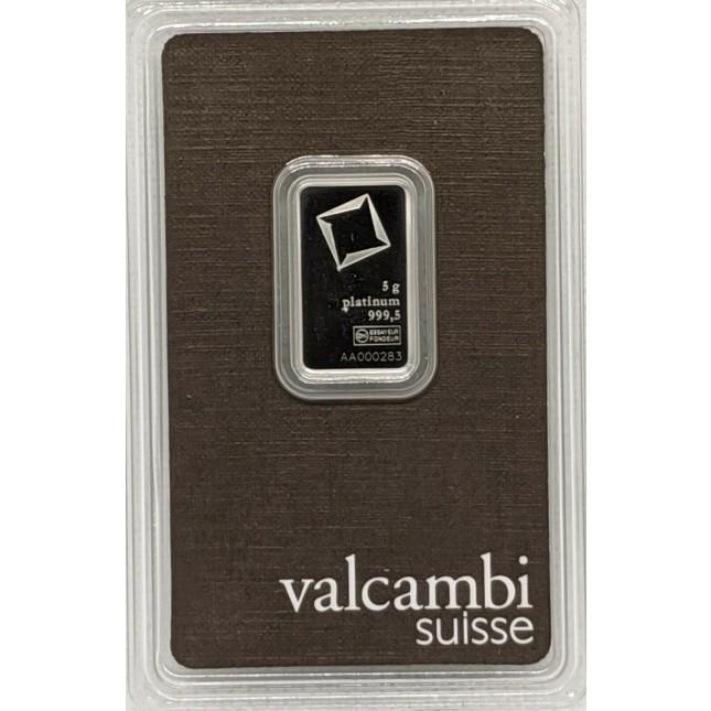 Valcambi 5 Gram Platinum Bar (In Assay)