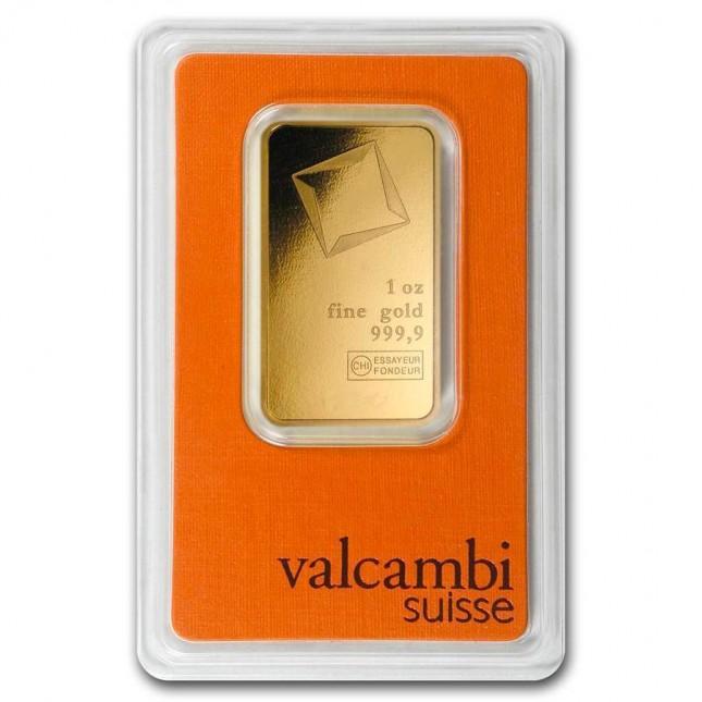 Valcambi 1 Oz Gold Bar (In Assay)