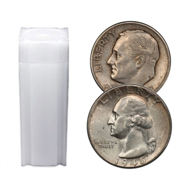 $10 Face Value Tube - 90% Junk Silver Coins