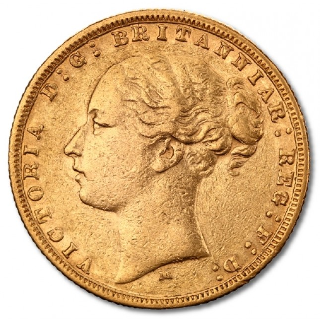 "Queen Victoria ""Young Head"" British Gold Sovereign 1838-1887 (Random Date)"