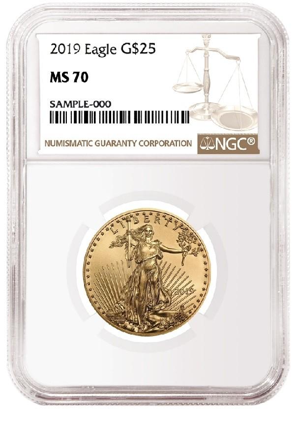 2 Oz American Gold Eagle Ngc Ms70