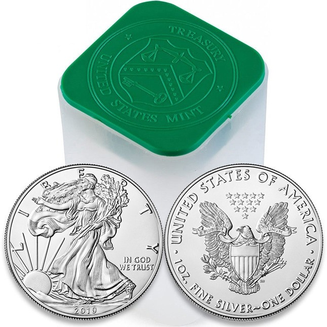Buy 2019 American Silver Eagle 20 Coin Roll Tube