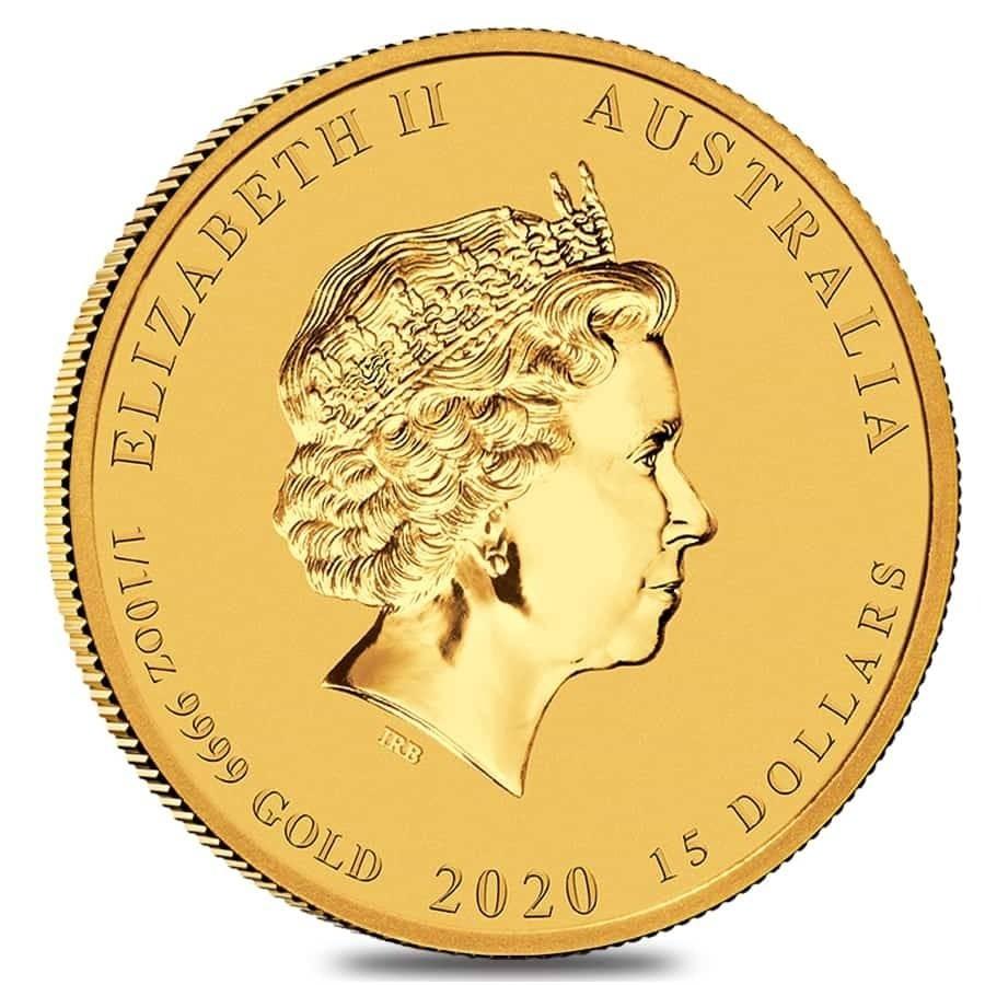 10 Oz Gold Lunar Mouse Coin Bu
