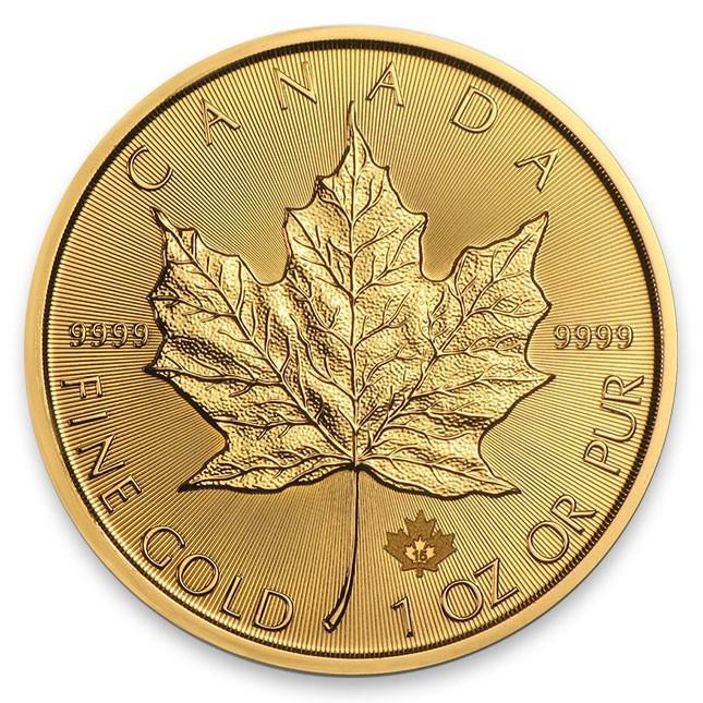 2020 Canada Gold Maple Leaf 1 Gram .9999 Fine in assay