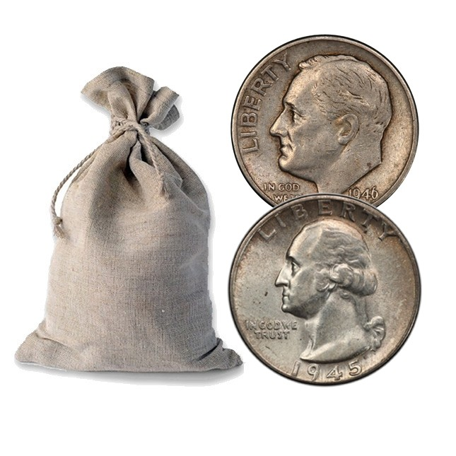 Bag Of 90 Silver Coins 50 Face Value