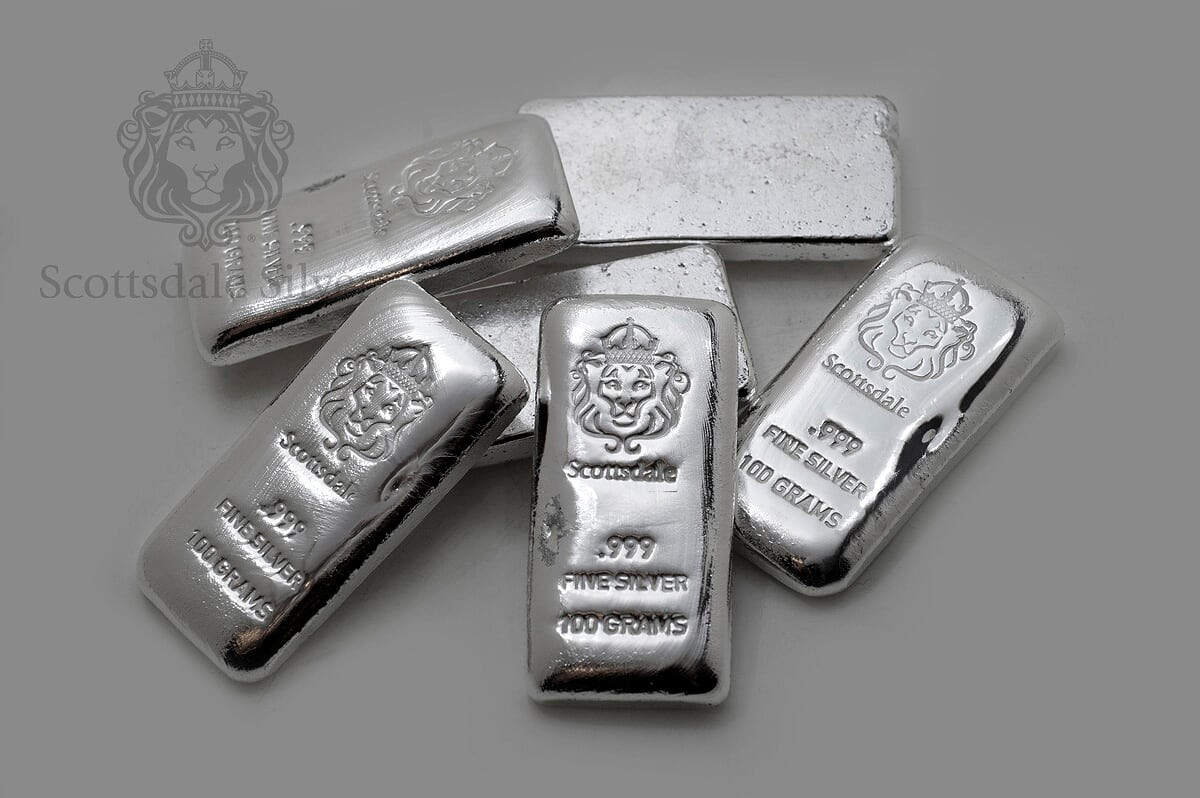 The Scottsdale Mint 100 Gram Silver