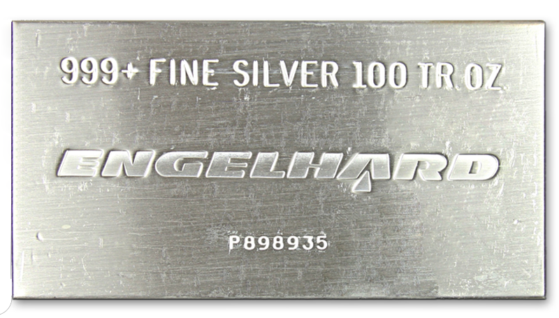 Buy 100 Oz Engelhard Silver Bar Any Type Monument Metals