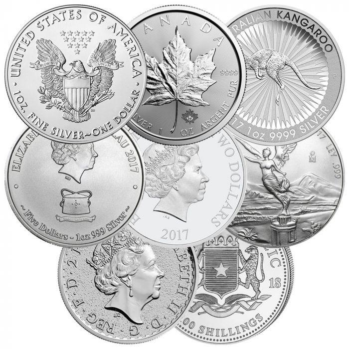 1 oz Silver Royal Canadian Mint $5 Random Design Milky Cull Damaged Circulated