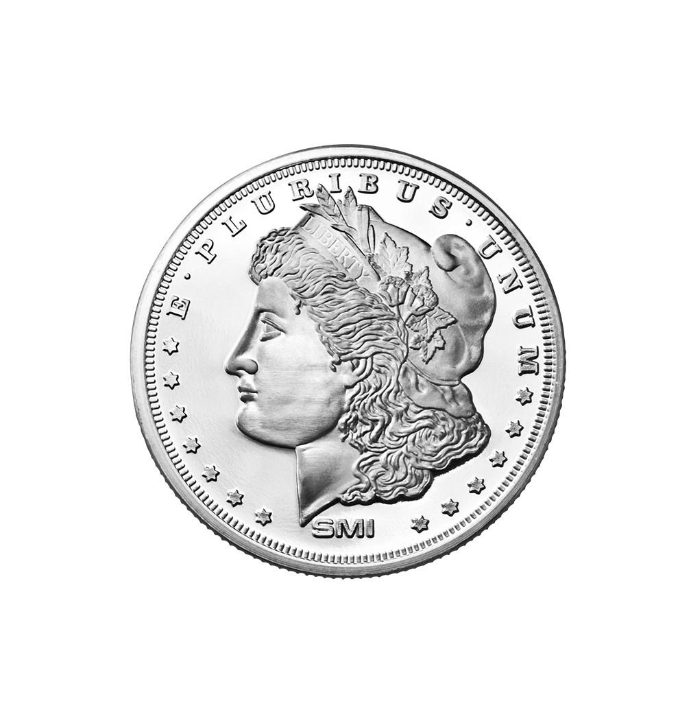 """SMI """"Morgan Dollar"""" Type Proof 1 Troy Oz Ounce .999 Silver Coin Art"""