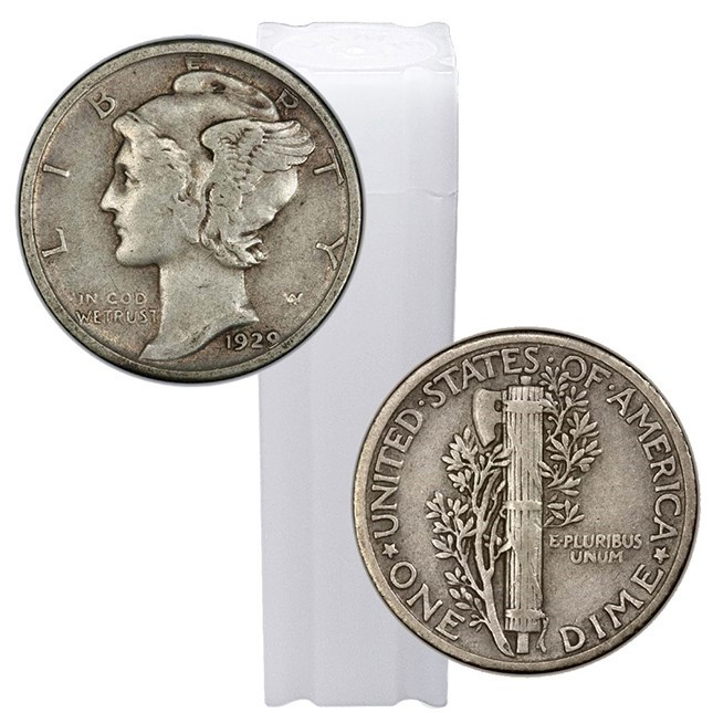 Mercury Dimes 25 Circulated 90/% Silver Choose How Many! 1916-1945 Lot of