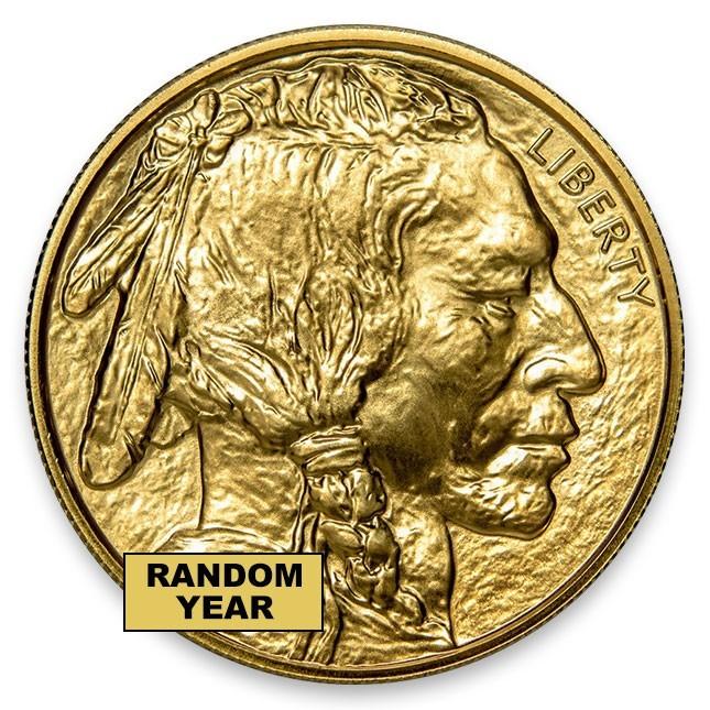 Buy Random Date American 1 Oz 24k Gold Buffalo Coin
