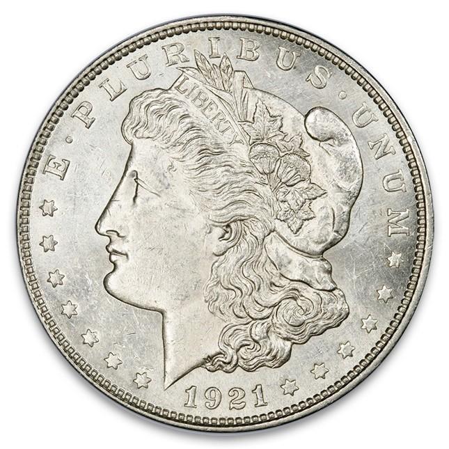 Buy 1921 Morgan Silver Dollar Coin Bu