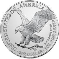 2021 1 Oz American Silver Eagle Type 2 (BU)