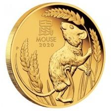 2020 Australia 1 oz Gold Lunar Mouse Coin (BU)