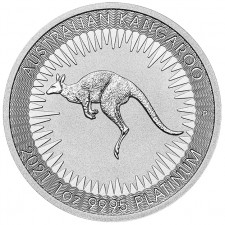 2021 1 Oz Australia Platinum Kangaroo (BU)