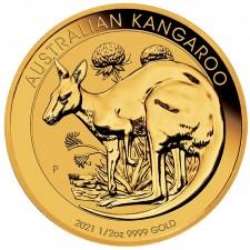 2021 Australia 1/2 Oz Gold Kangaroo (BU)