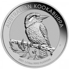 2021 Australia 1/10 Oz Platinum Kookaburra (BU)