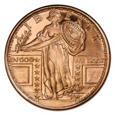 1 oz Copper Round | Standing Liberty (BU)