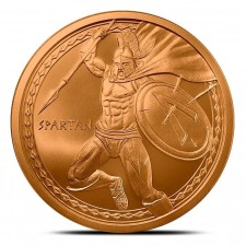 1 oz Copper Round | Spartan Warrior Series (BU)